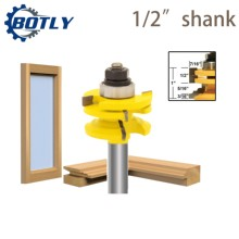 """1/2""""Shank router bits for wood Glass Door Rail & Stile Reversible Router Bit Woodworking Milling Cutting for Wood Tool Bits"""