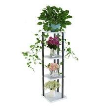 Airs Indoor EINE Wohnzimmer Innen Stahl Holz Ecke Blume Rack Entladung Blumentopf Von Grün Luo Botanik Multi-stöckige rahmen