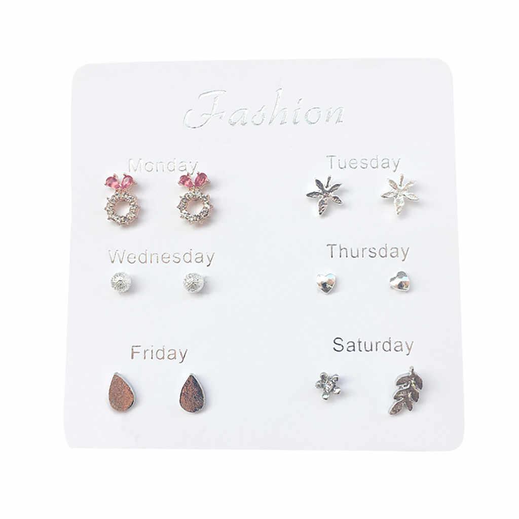Kreative Verschiedene Stil Kombination Stud Ohrringe Set Damen Einfache Nette Reise Set Ohrring Temperament Mode Ohrringe