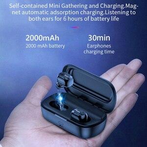 Image 2 - Baseus W01 TWS אמיתי אלחוטי Bluetooth אוזניות 5.0 חכם אלחוטי אוזניות עם מיקרופון 6D סטריאו קול אוזניות אוזניות עבור טלפון