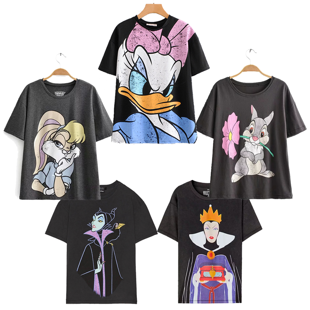 2019 Fashion T Shirt O-neck Women Clothing Print Classic The Lion King Regular Tops Graphic Shirt Streetwear Mickey Cotton Tee