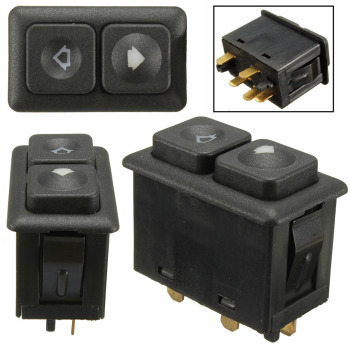 Treyues 1pc High Quality Power Window Sunroof Switch 61311381205 5 Pins Black For BMW E24 E28 E30 L6 M5 image
