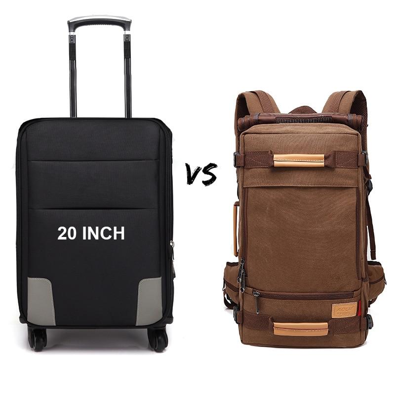 MAGIC UNION Mens Backpack 20/22 inch Big Travel Backpack Canvas Bag Sling Backpack Hiking Camping Backpacks for Men 4