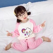 Детская флисовая Пижама одежда для сна с рисунком персонажей