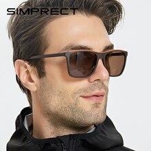 SIMPRECT TR90 Polarized Sunglasses Men 2020 Driver's UV400 Retro Square