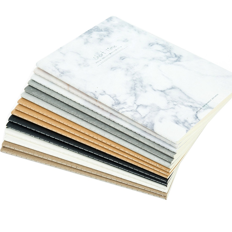 1Pcs Cut Marble Animal Designs Soft Cover A4 A5 B5 Notebook Lines Composition Diary Stiching Binding Notebook Style Random