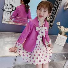 kids blazers spring autumn girls casual 2pcs dress suits jac