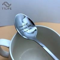 Guten Morgen Schöne/Stattliche Paare Löffel Langen Griff Kaffee Tee Eis Geschirr Valentine Neue Jahr Geschenk Haushalt Verwenden-in Kaffee-Kugeln aus Heim und Garten bei