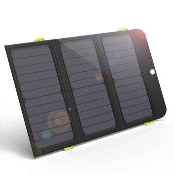 Batería Solar FFYY-Allpowers Cargador Solar de carga rápida de 21W cargador ultrafino con batería de 6000Mah adecuado para Iphone Samsung