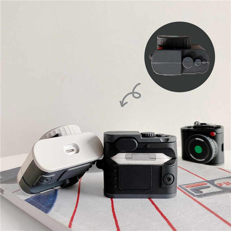 Housses pour AirPods Pro 3 étui 3D mignon Cool appareil photo écouteur housses pour Apple Airpods 2 drôle protéger couverture avec anneau de doigt