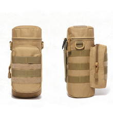 цены Outdoors Water Bottle Pouch Tactical Gear Kettle Waist Shoulder Bag for Army Fans Climbing Camping Hiking Bags