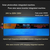 Sine wave inverter with charging integrated machine 24V to 220V 1000W 2000W solar high frequency photovoltaic UPS charging