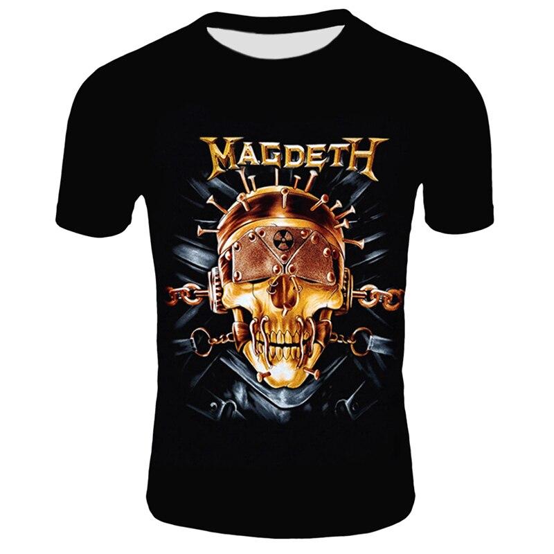 Retro-Men-3D-Skull-T-Shirt-Punk-Black-T-Shirt-Casual-Men-s-Tshirt-Magdeth-Skull