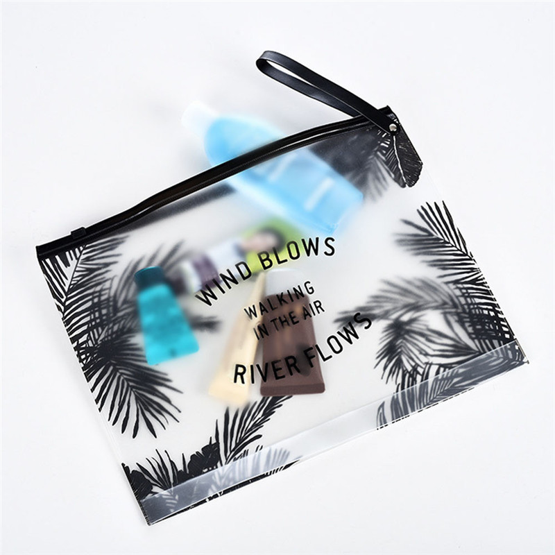 Fashion Travel Women Clear Transparent Cosmetic Bag Small Large PVC Necessary Makeup Bag Case Bath Wash Organizer Set