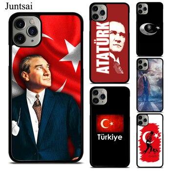 Juntsai turco Ataturk bandera TPU funda para iPhone x XS Max XR 7 7 6 6S Plus 5 11 Pro Max cubierta Coque