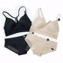New Sexy Lace Bralette Lingerie Soft Wireless Comfort Bra Set Multifunction Stra