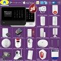Золотой безопасности DIY wifi 3g GSM GPRS беспроводное приложение дистанционное управление домашняя система охранной сигнализации 1080P HD камера EN RU ...