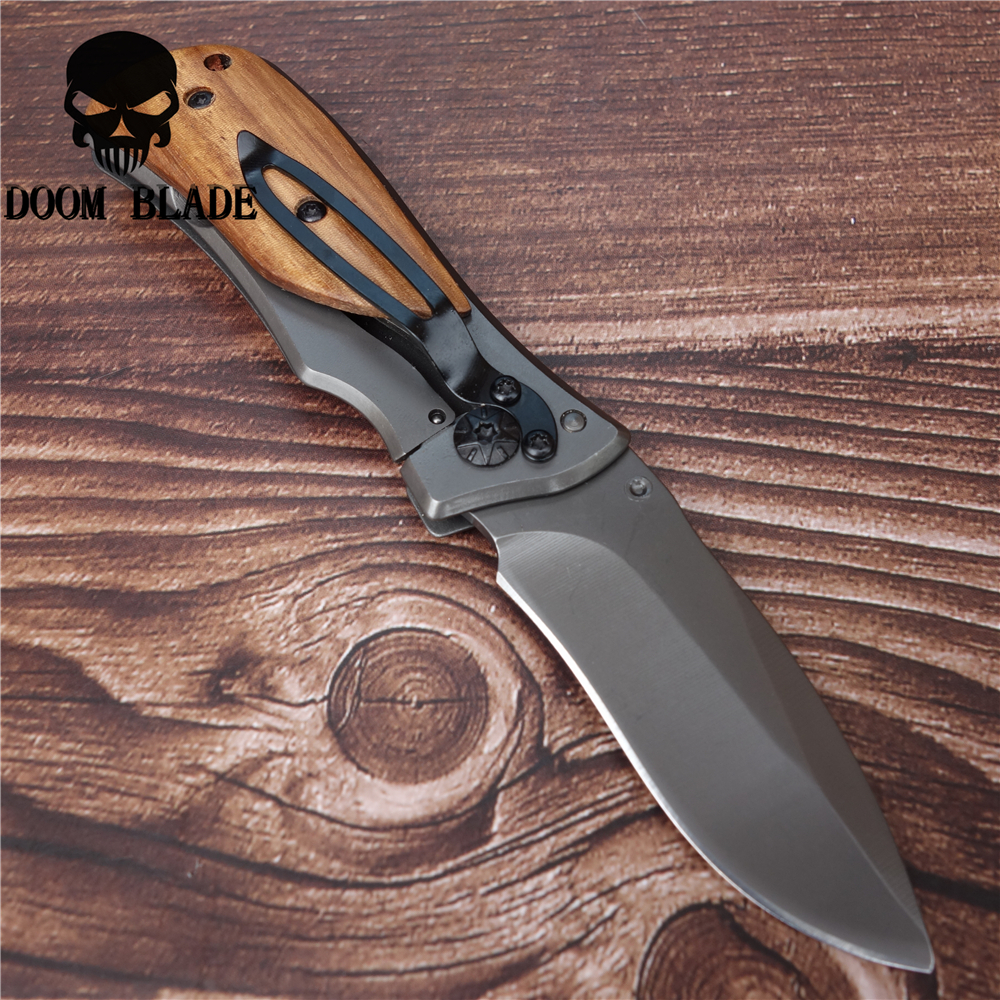 150mm 5CR15MOV Blade Knives Folding Knife with Carabiner Hanging Buckle Hike Outdoor Camp Survive Kit Portable Pocket Tool in Knives from Tools