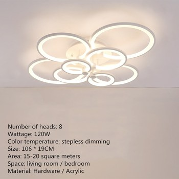 Artpad Modern Surface Mounted Led Ceiling Lights Living Room Bedroom Dining Room Indoor Ceiling Lighting Fixture 40/70/120W 9