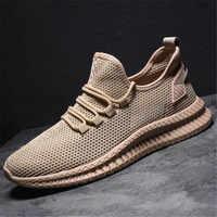 2019 Shoes Men Sneakers Flat Male Casual Sports Shoes Comfortable Men Footwear Breathable Mesh Tzapatos De Hombre Hot Sneakers