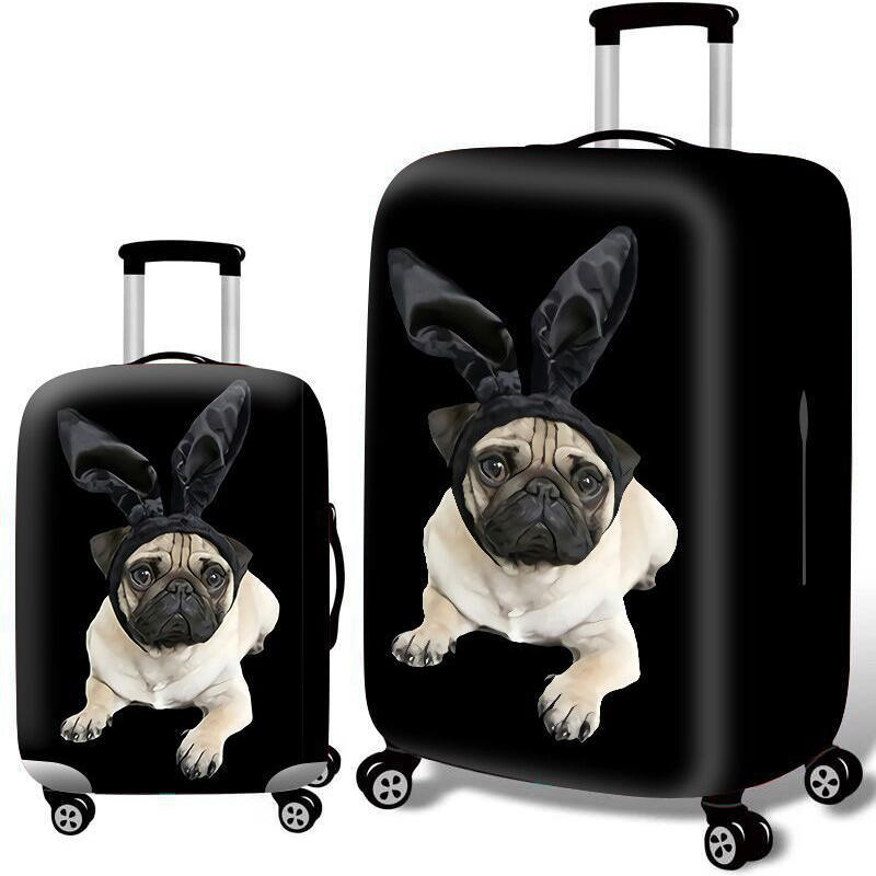 Animal Pattern Thicken Luggage Covers Travel Trolley Suitcase Protective Cover Travel Accessorie For 18-32 Inch Suitcase Case