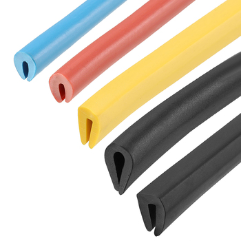 Uxcell, 1 Uds., 9 metros/30 pies, borde embellecedor, Protector de borde en U apto para bordes de 1-2mm, 0,8-1,5mm, borde de 1,5-2,5mm, rojo, azul, amarillo, negro