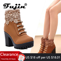 Модные женские ботинки; сезон осень; ботильоны из искусственной кожи с круглым носком; пикантная женская обувь на высоком каблуке 7 см и плат...
