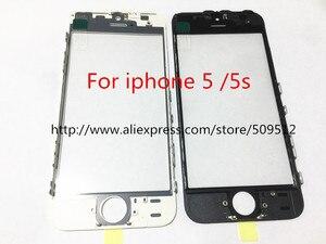 Image 5 - 10 sztuk jakości zimnej prasy przednia szyba zewnętrzna z OCA z ramką dla iphone 5 6 6plus 6s plus 7 7plus 8 plus X szkło + rama + OCA