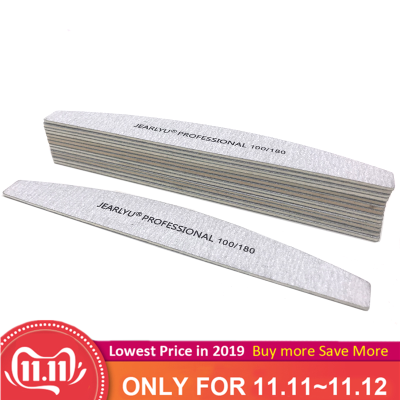 10Pcs Wooden Nail File 100/180 Sandpaper Nail Buffer Block Board Professional Washable Manicure Nail Accessoires Tools Lime A On