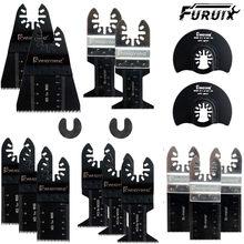 Lâminas multitools 17 pacote metal/oscilação de madeira viu lâminas liberação rápida ajuste fein multimaster porter cabo preto & decker drem