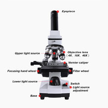 Zoom 2000x coarse Micro abjustment coaxial HD Biological Microscope electronic eyepiece monocular Student Lab education LED USB