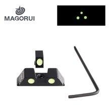 Magorui-revólver táctico de caza, punto verde brillante para Glock 17/19/22/23/24/26/27/33/34/35, uso diurno y nocturno