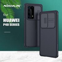 Nillkin-funda protectora para Huawei P40 Pro Plus, cubierta trasera deslizante para lente de cámara, P40 Pro +