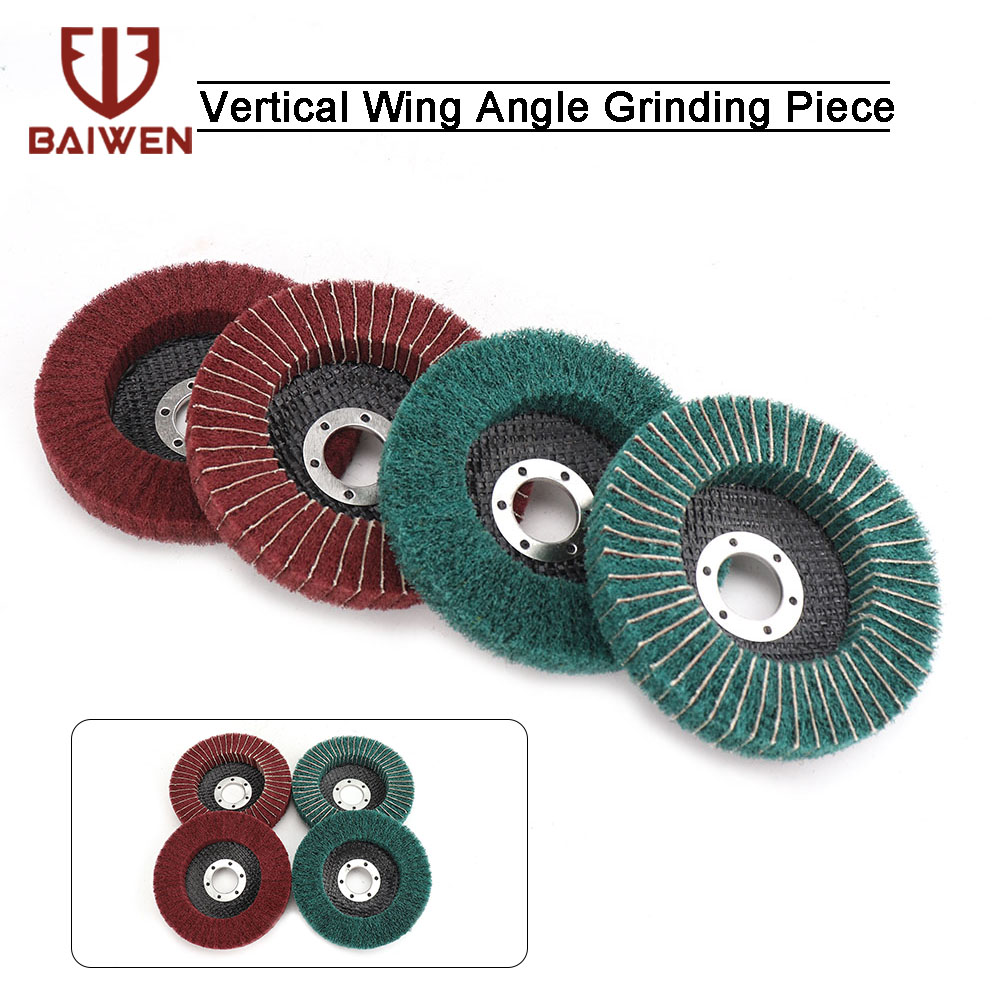 2/4/8Pcs 115mm Nylon Fiber Flap Polishing Wheel Grinding Disc #120/240/320 Scouring Pad For Angle Grinder
