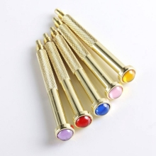 1pc DIY gold Corner hand drill piercing Nail Art Gel UV Acrylic Tips Pierce
