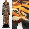 50x145cm Tiger Gedruckt Polyester Chiffon Stoff Tuch Material Factory Custom Kleid Nähen Kleidung Schal Handgemachte Stoff