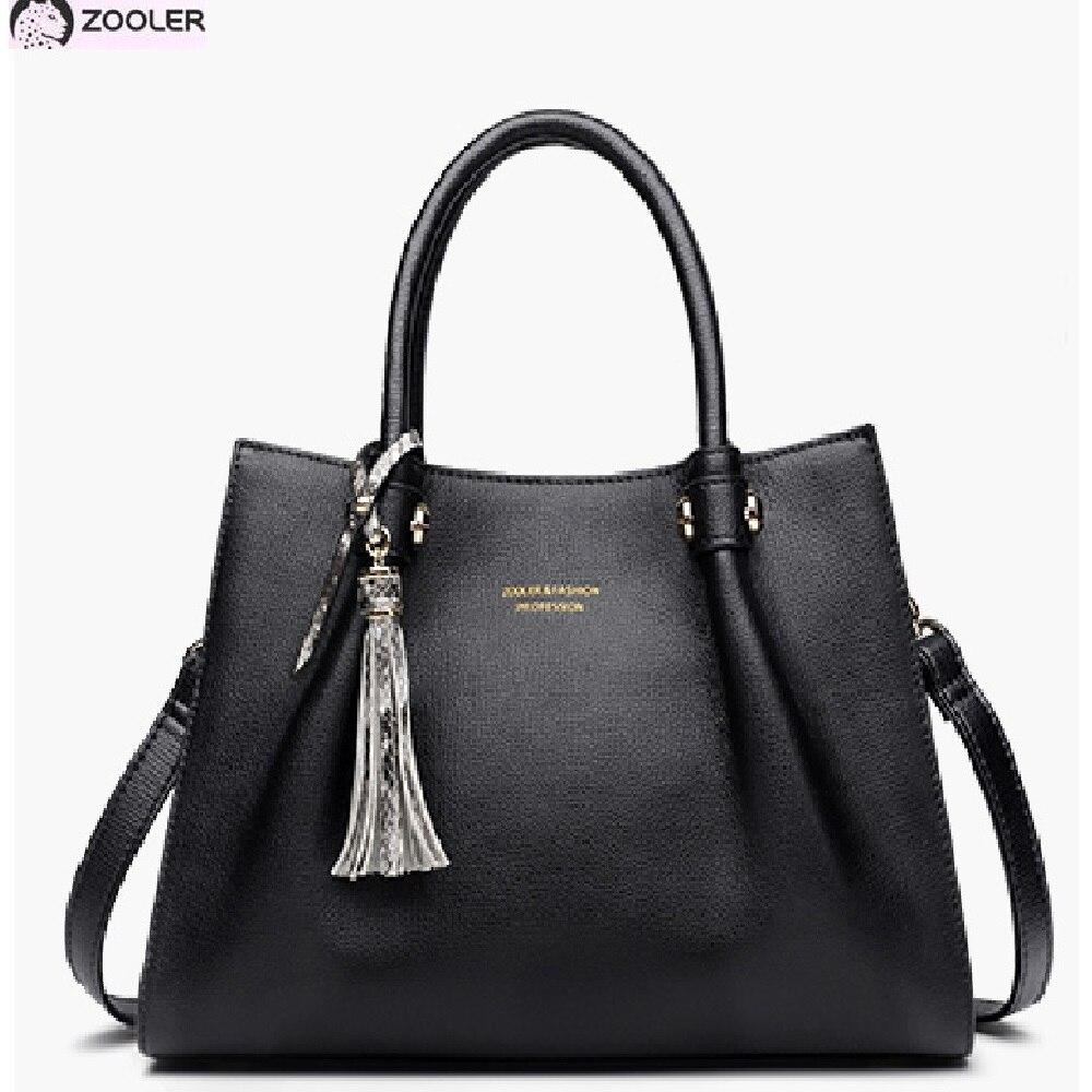 ZOOLER geniune borse di cuoio delle donne borse di lusso borse delle donne del progettista di stile di modo sacchetto di spalla delle donne borse delle signore H135-in Borse con manici da Valigie e borse su  Gruppo 1