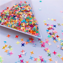 Colorful Halo 4 Point Star Confetti Holographic Glitter Aurora Borealis Sprinkle Iridescent Cross Star Flakes Resin Art supplies