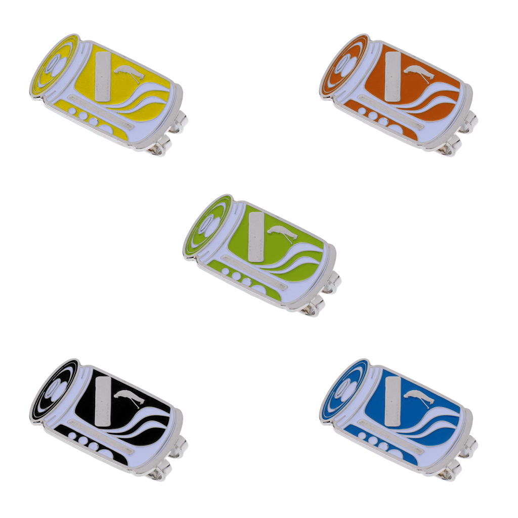 Durable Alloy Ring-pull Can Pattern Magnetic Hat Clip Golf Ball Marker Clip Onto Golf Cap Visor Belt Pocket