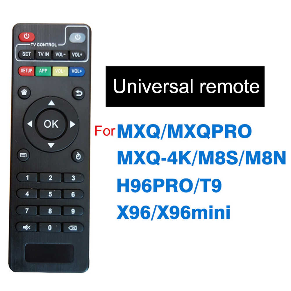 Mando a distancia de repuesto inalámbrico para MXQ 4K MXQ Pro H96 T95M T95N M8S M8N mini Android TV Box para caja de Smart TV de Android