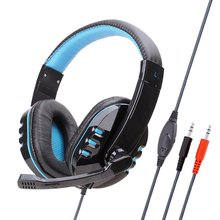 Gaming Computer Headset  Earphones with Mic 3.5mm Wired Headset Stereo Sound Game Headphone computer wired gaming headphone earphones headband gaming headset over ear game headphone with microphone mic led light for pc