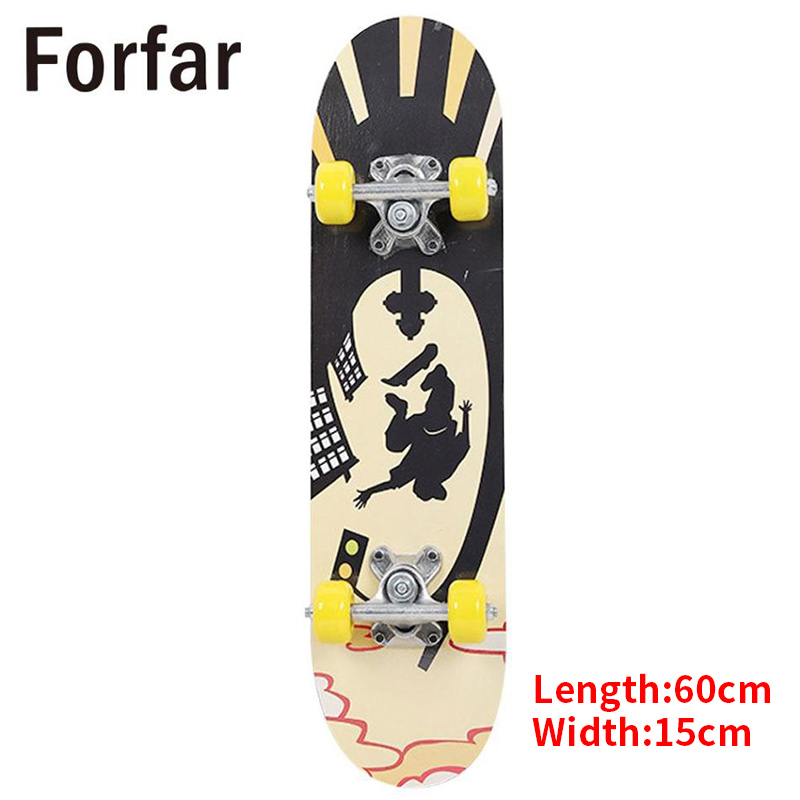 3 Style Deck Skateboard Longboard Skateboard Longboard CompleteRocker Skateboard Four Wheel Scooter Board For Children Teenagers