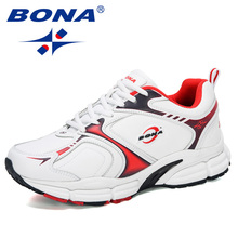 BONA 2020 New Designers Action Leather Running Shoes Men Outdoor Sports