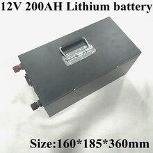 12 v 200ah 리튬 이온 배터리 팩 태양 광 시스템/전기 보트/에너지 저장 시스템/rv/태양 전지 패널 + 충전을위한 내장 bms
