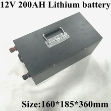 12V 200Ah リチウムリチウムイオンバッテリーパック内蔵 BMS ソーラーシステム/電気ボート/エネルギー貯蔵システム /RV/ソーラーパネル + 充電