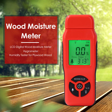 цены Wood Moisture Meter Humidity Tester Timber Damp Detector Paper Digital Wall Moisture Analyzer Range 2%~70%