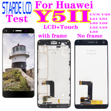 цена на For Huawei Y5 II LCD Display Touch Screen Digitizer Y5II CUN U29 L21 L01 L02 L03 L22 L23 L33 For Huawei Y5 II LCD With Frame