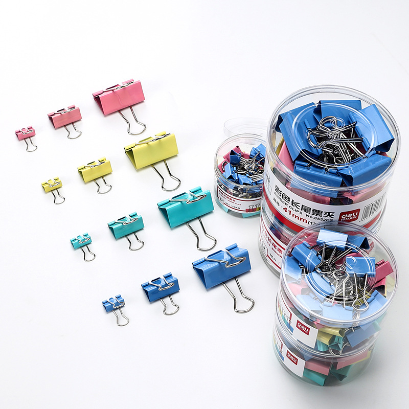 5pcs / Metal Paper Clip 50mm Color Candy Color Paper Clip, Used For Books, Stationery, High Quality School Office Supplies
