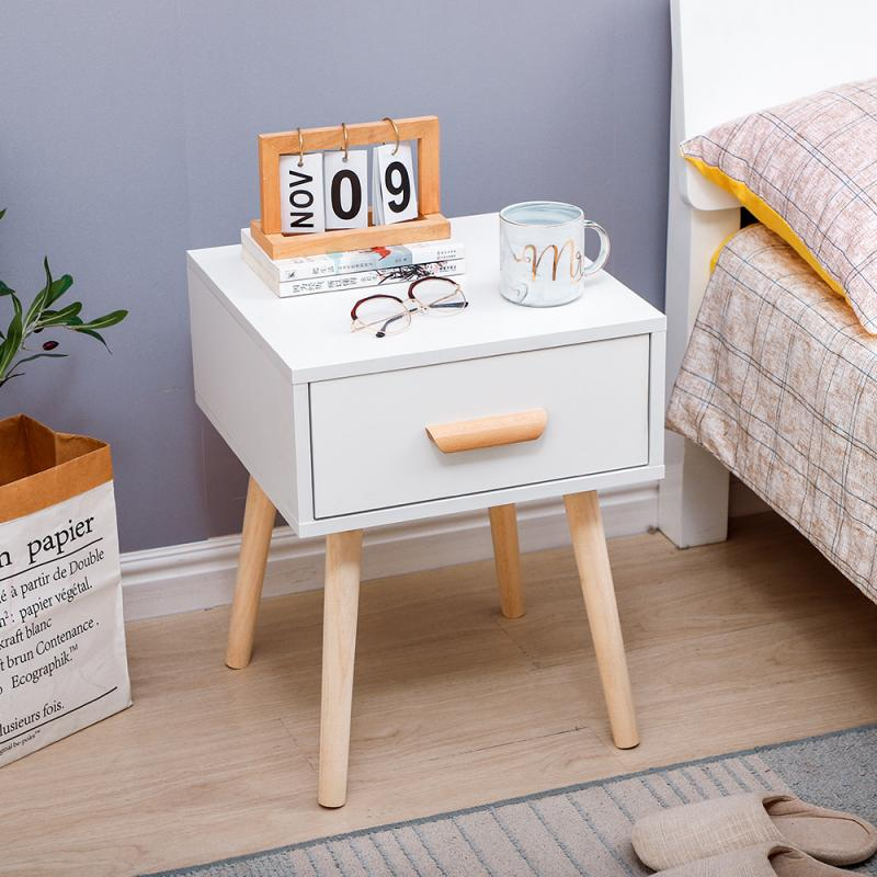 Bedside Table Cabinet Bedroom Locker Economical Small Simple Coffee Apartment Bedroom Nightstands / French Delivery Modern HWC