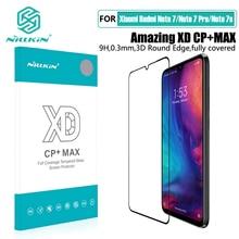 for Xiaomi redmi note 7 pro glass nillkin xd cp + max 풀 커버 3d 강화 유리 스크린 보호대 for Redmi Note7 note 7S film